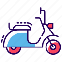 bike, mini bike, scooter, scootie, transport, vehicle icon