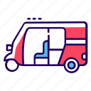 auto rickshaw, automobile, public transport, rickshaw, transport, vehicle icon