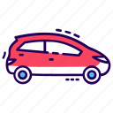 automobile, car, conveyance, hatchback, transport, vehicle icon