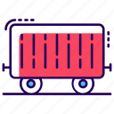 cargo train, freight train, logistic delivery, railway transport, shipment icon