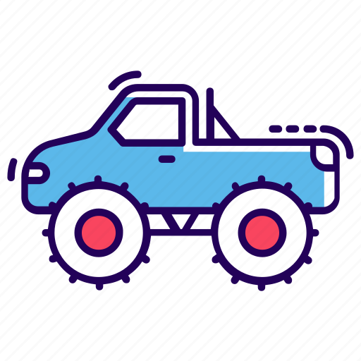 automobile, freight, monster truck, transport, van, vehicle icon