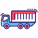 city truck, container truck, delivery truck, transportation, truck, vehicle icon