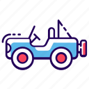 automobile, car, conveyance, four wheeler car, jeep, transport, vehicle icon