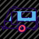 automobile, caravan, conveyance, transport, vanity van, vehicle icon