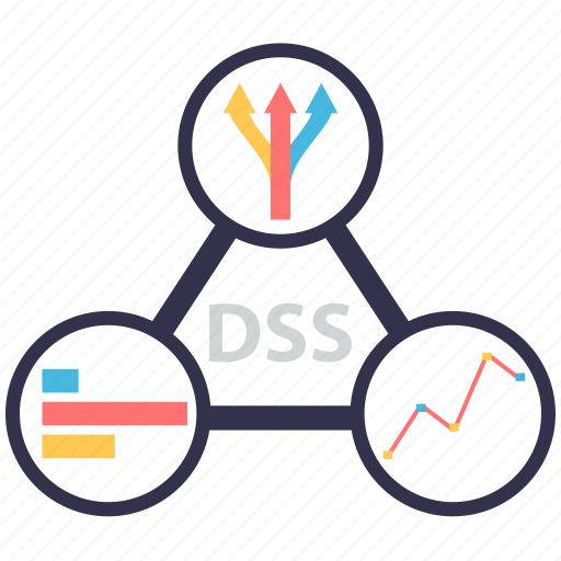 automation, decision support system, dss, information system icon