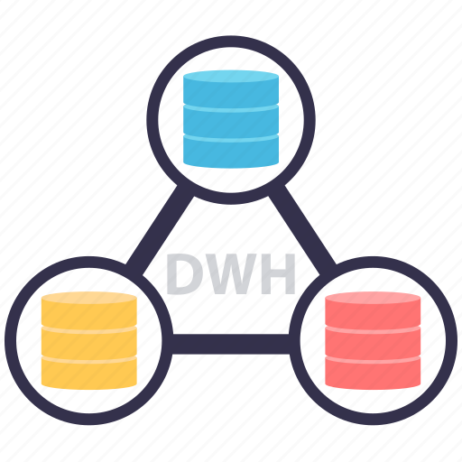 big data, data warehouse, database, dwh, information system, is, storage icon