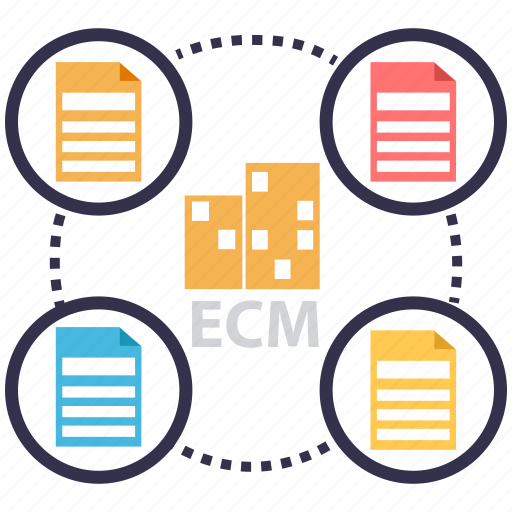 automation, document, ecm, electronic document management, files, information system icon