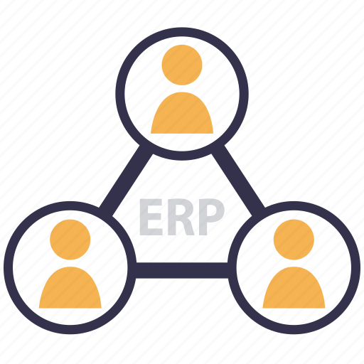 Application, information system, erp, integration, business process icon
