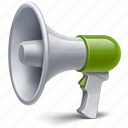 advertising, communication, connection, megaphone, sound, speaker, volume icon