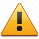 alert, attention, error, problem, sign, warning icon