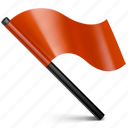 alert, attention, flag, mark, red, warning icon