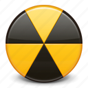 alarm, alert, attention, burn, danger, radioactive, warning icon