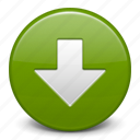 arrow, down, download, load icon