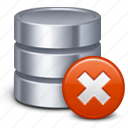 database, delete, remove, storage icon