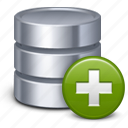 add, data base, new, plus, storage icon