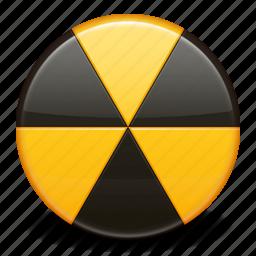 alarm, alert, attention, burn, danger, radioactive, warning icon