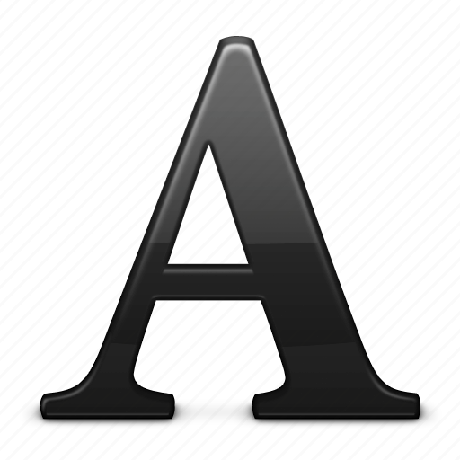 a, font, text, type icon