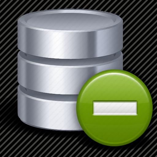 database, delete, remove, storage icon