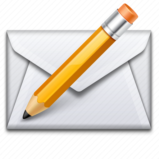 Write, mail, letter, pencil icon