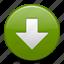arrow, down, download, load icon