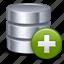 add, data base, new, plus, storage icon