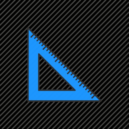 classroom, measure, office supply, ruler, scale, school, school supply icon
