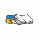 education, library, read, supplies, office supply, school supply, book icon