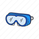 diving, eyewear, glasses, goggles, protection, sports gear, swim gear icon