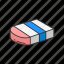 erase, cleaner, eraser, school supply, remove, office supply icon