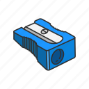 cutter, equipment, office supply, pencil, school supply, sharpener icon