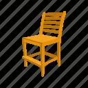 chair, education, furniture, school chair, school supply, teacher's chair icon