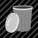 bin, delete, garbage can, remove, trash, trash can icon