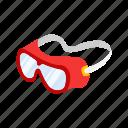eye protection, eyewear, goggles, lab equipment, mask, school supply, swim gear icon