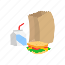classroom, food, lunch, meal, sandwich, snack icon
