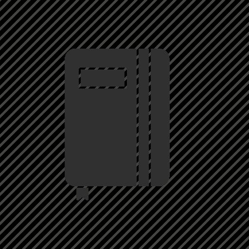 book, bookmark, classroom, education, journal, school, school supply icon