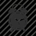 alarm clock, clock, school supply, time, watch icon