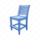 chair, furniture, office, school, school chair, supplies icon