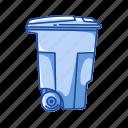 bin, can, delete, garbage, remove, trash, trash can