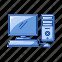 computer, monitor, office, pc, school, screen, technology