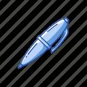 classroom, draw, education, office pen, pen, school pen, school supply icon