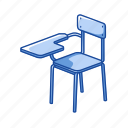 chair, desk, education, furniture, school, school chair