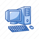computer, desktop, display, monitor, pc, screen, server icon