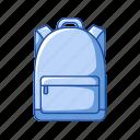 backpack, bag, education, equipment, knapsack, school icon