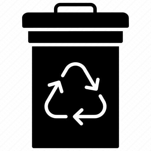data recycling, garbage bin, recycle bin, trash bin, waste bin, waste recycle icon