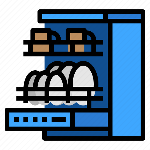 cleaning, dish, dishwasher, machine icon