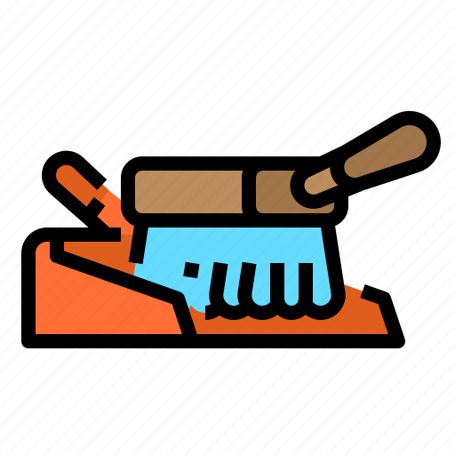 brush, clean, cleaning, dustpan icon