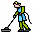 broom, bucket, housekeeping, mop icon