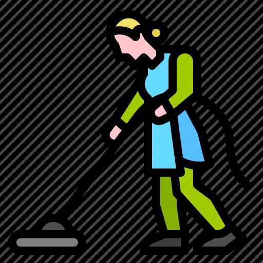 broom, bucket, housekeeping, mop icon
