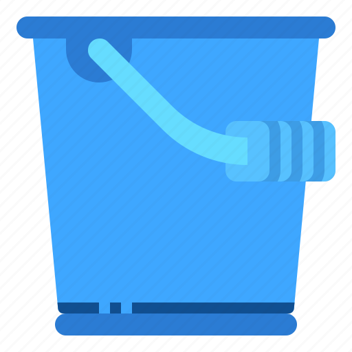 bucket, cleaning, housekeeping icon