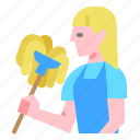 clean, cleaner, cleaning, worker icon
